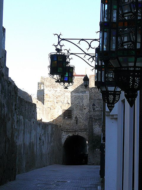 Street lamps in the Medina, Tangier, Morocco by fam_nordstrom, via Flickr