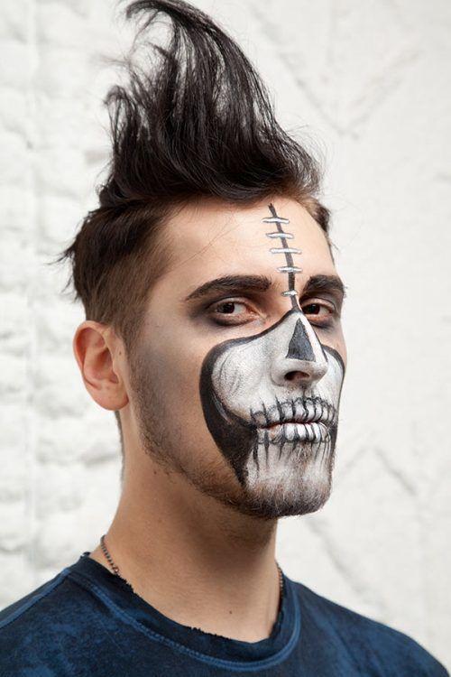 Halloween Makeup Ideas For Men That You Can Easly Copy Halloween Makeup Halloween Makeup Easy Guys Halloween Makeup