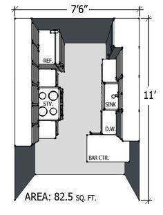 Small kitchenette dimensions buscar con google for Kitchenette plan