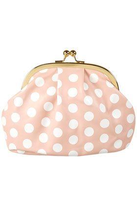 topshop polka dot makeup bag