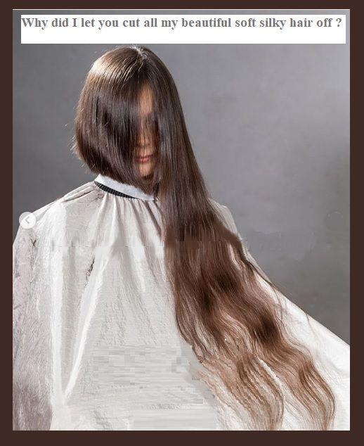 Pin On Girls Long Haircuts Bald Shaving Hair On Floor