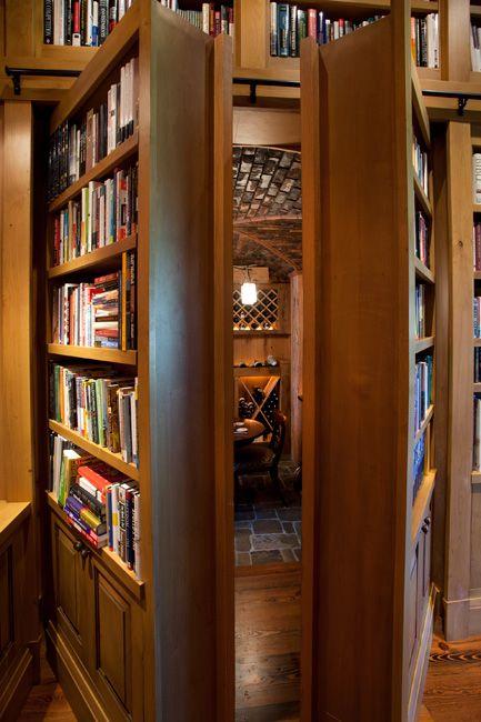 secret door to wine room....nah, secret door to a bigger