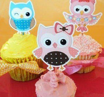 Aproveite os moldes de corujas para decorar cupcakes que estamos disponibilizando e deixe a sua fest