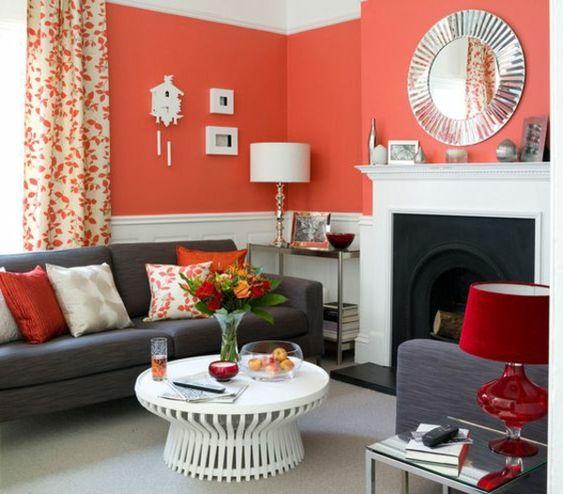 farbvorschläge wohnzimmer frisches oranges interieur ideen in ...