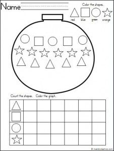 math worksheet : christmas ornament graph worksheet  graph worksheet  pinterest  : Worksheets For Kindergarten Students