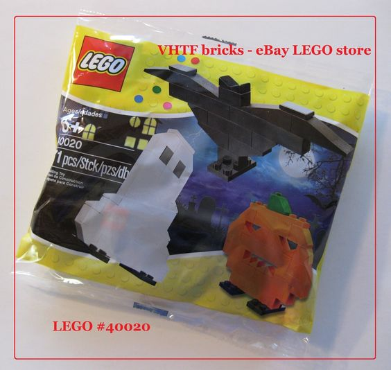 LEGO 40020 Halloween Seasonal polybag pumpkin bat & ghost new sealed set $9.95