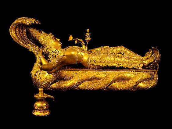 Sri Padmanabhaswamy Temple Mahavishnu Idol - 32 KG