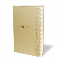 Price for pack of 10 personalised and printed wedding menus.