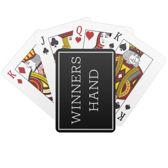 Winning Hand Deck Playing Cards Zazzle Ca Playing Cards Deck