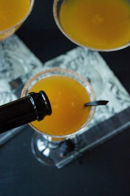 Pumpkin Champagne Cocktail: