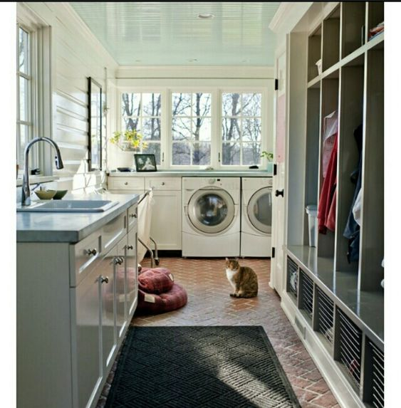 yes  i want to convert half my sunroom into a mudroom  laundry room  it will be concealed behind