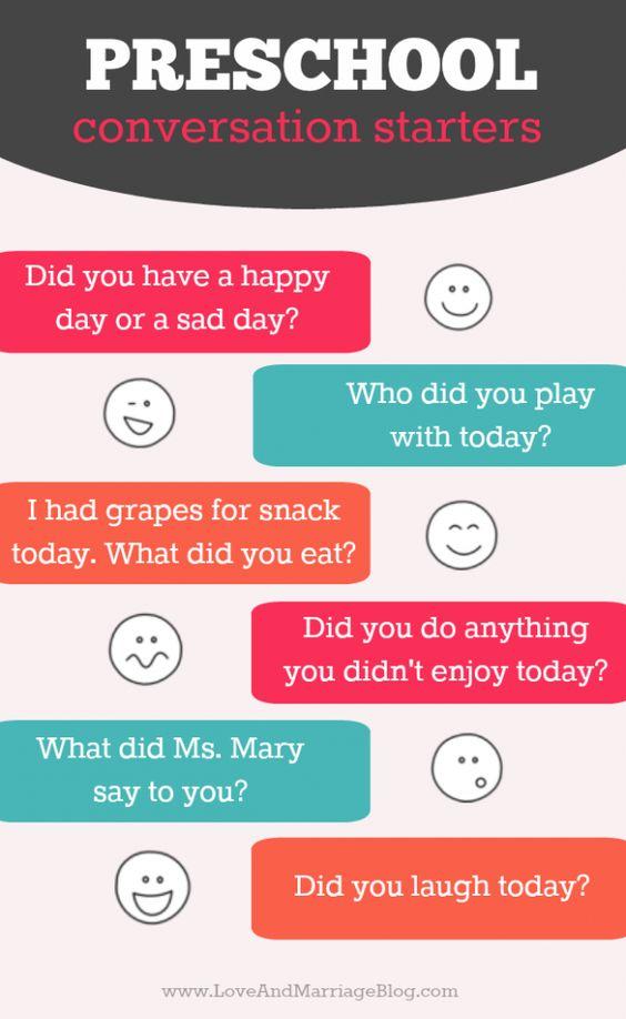 6 Quick Preschool Conversation Starters Conversation