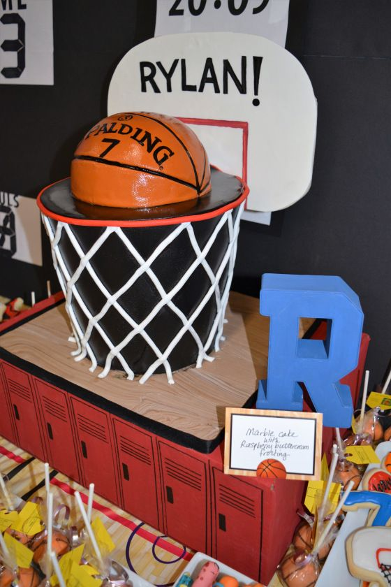 NBA/Basketball themed 7th Birthday party | More: