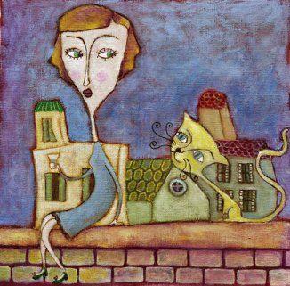 woman-and-catbaja  Virginia Piñón