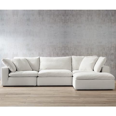 Skye Peyton Pearl 4 Piece Modular Sectional Set With Ottoman Sectional Sofa Comfy Sectional Restoration Hardware Sofa