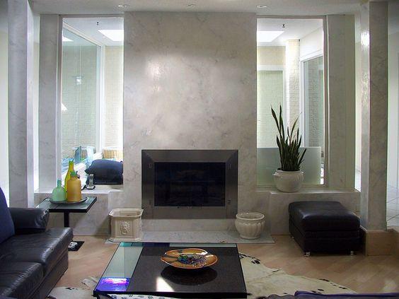 Venetian Plaster Fireplace Modernavant Garde Pinterest Columns Colors And Plaster Walls