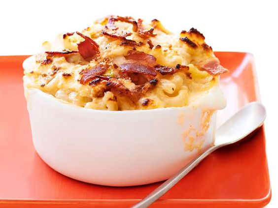 Dressed-Up Bacon Mac and Cheese ...    Macaroni and cheese is already a beloved comfort food, but the bacon, breadcrumb and scallion topping on this version makes it extra special.