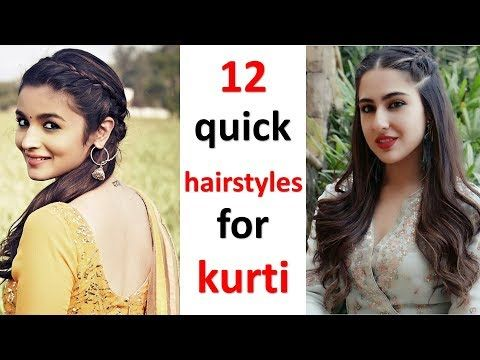 12 Kurti Hairstyles For Ladies Quick Hairstyles Easy Hairstyles Cute Hairstyles Hairstyle Youtube In 2020 Easy Hairstyles Cute Hairstyles Hair Styles