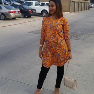 African Print Ankara /& Denim Shirt Dress with Bishop Collar African Clothing for Women Ankara Shirt Dress Gift for her Ankara Dress
