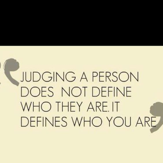 Judgement. Check yourself.