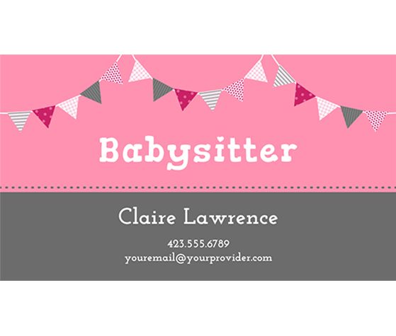 10 best Babysitting images on Pinterest Business cards