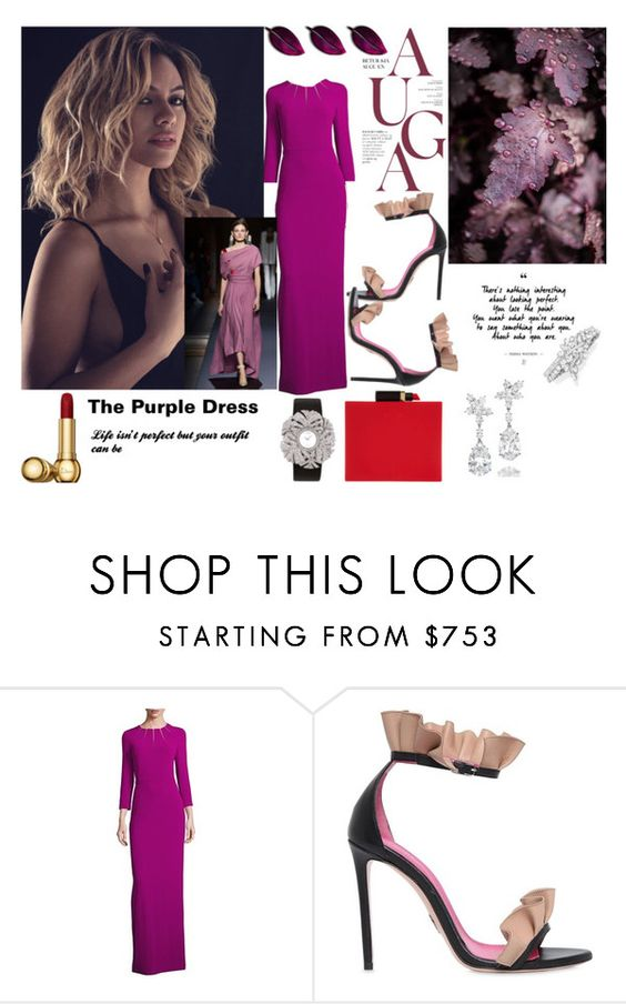 """""""Just Perfect"""" by sade-aladejana-lewis on Polyvore featuring ESCADA, Oscar Tiye, Lulu Guinness, Harry Winston, fashionset and blacktieparty"""