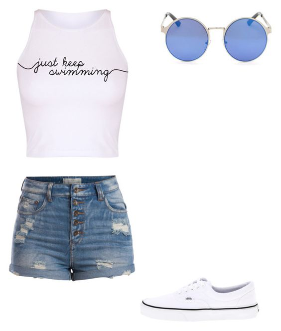 """"""""""" by melodyleighmitchell on Polyvore featuring Pieces and Vans"""