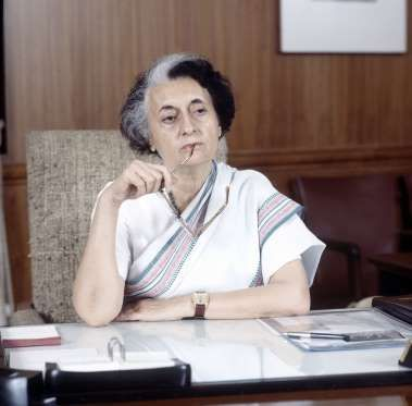 """Indira Gandhi - """"My grandfather once told me that there were two kinds of people: those who do the work and those who take the credit. He told me to try to be in the first group; there was much less competition."""" REX/Reginald Davis"""