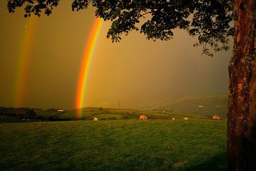 double rainbows in Scotland: