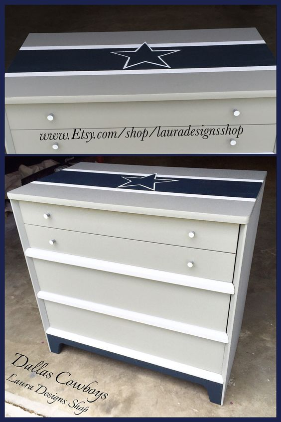 Dallas Cowboys Dresser Boys Furniture Football Teams Bedrooms Cowboys Furniture Dallas