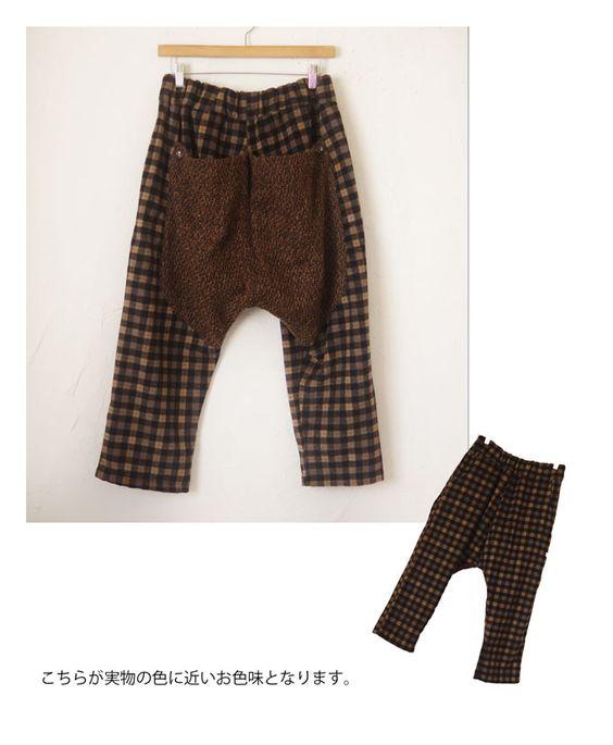 【楽天市場】【再入荷♪1月29日12時&22時より】(ブラウン)「sanpo」たっぷり感のある異素材パンツ:cawaii