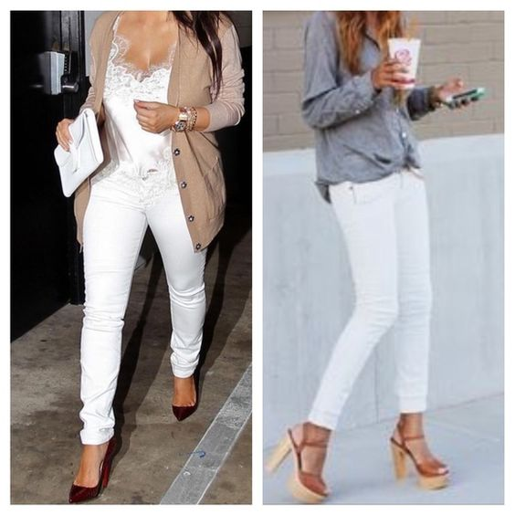 White favorite skinny jeans ONE HOUR SALE Boutique | Skinny