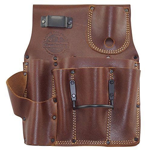 Top Grain Leather Tool Pouch Bag Pocket Drywall Storage Organizer Utility