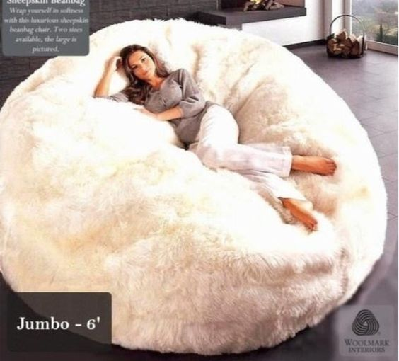 Grown Up Chic Or Old School Has Been Modern Bean Bag