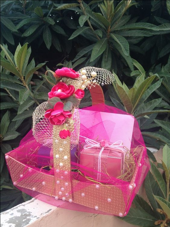 How To Wrap Wedding Gifts: BASKETS! - Wrap With Inayat