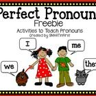 The activity in this freebie was designed to help teach and/or review pronouns throughout the year.    Please take a look at our complete Pronoun P...