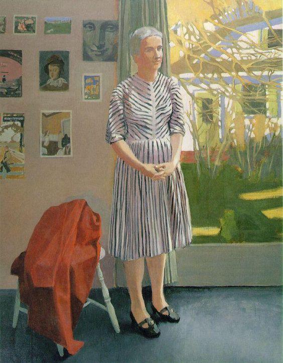 Anne in a Striped Dress (1967) by Fairfield Porter (1907-1975), American (wikiart)