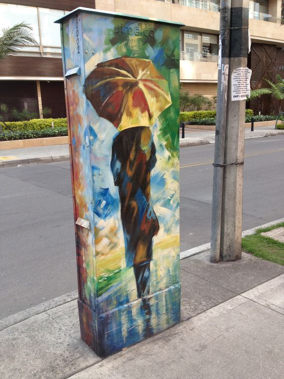 Arte que se encuentra en cualquier esquina en Bogotá.