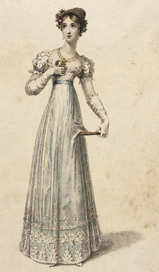Full dress, fashion plate, hand-colored engraving on paper, published in Ackermann's Repository, London, November 1823.