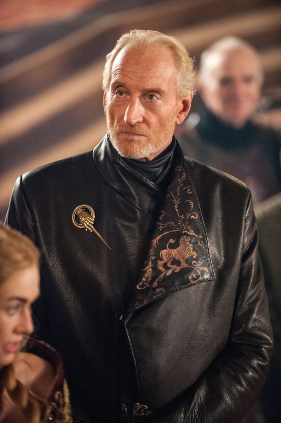 The powerful and wealthy patriarch of house Lannister, Tywin is Lord of Casterly Rock and Warden of the West. And is fear throughout Westeros. He is accustomed to command and control, having secreted as the Mad King Aerys Targaryen's Hand for 20 years - before Tywin turned on Aerys and sacked King's Landing.
