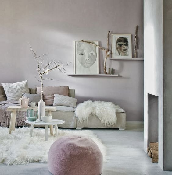 Trend Spotting Pretty Pastel Interiors in Design, Home Decor, Art, Accessories, Style and Fashion. Featured: Pastel, Mint, Pink, Baby Blue, Creams, Nude Color Palettes in the Living Room