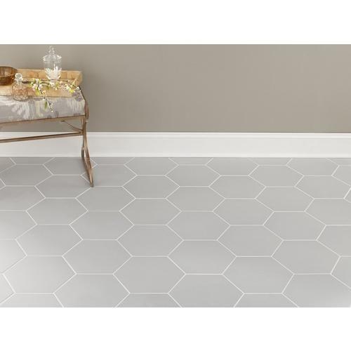 Opal Gray Hexagon Porcelain Tile Flooring Hexagon Tile Bathroom