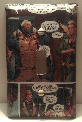 Wolverine and the Avengers Light Switch Cover, Comic Books, Marvel Comics, Handmade by ComicBookCreations01 on Etsy
