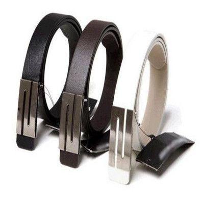 Faux Leather S Buckle Belts
