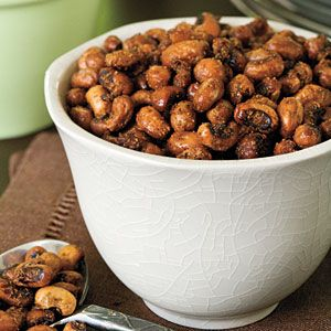 Healthy Appetizer Recipes | Chili-Roasted Black Eyed Peas | SouthernLiving.com