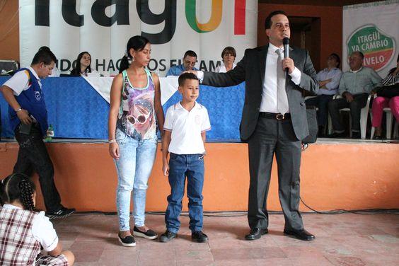 Niño de la I.E. Felipe Restrepo