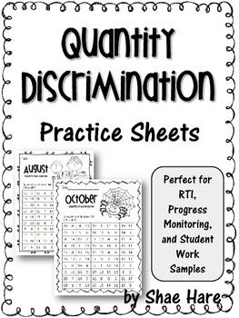 Collection Quantity Discrimination Worksheets Photos - Studioxcess