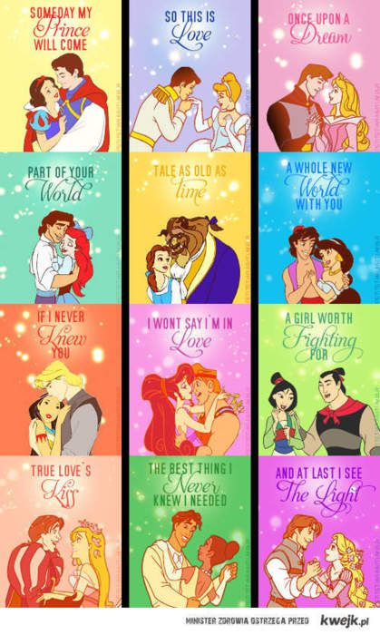 <3 gives us princesses that one day our prince will come for us.... or we will come to them: Disney Couple, Disney Princesses, Disney Quote, Things Disney, Disneyprincess, Love Songs, Disney Cruise/Plan, Disney Movie