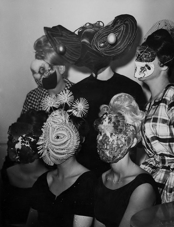 Gathering of a surrealist group, Photo by Denise Bellon.