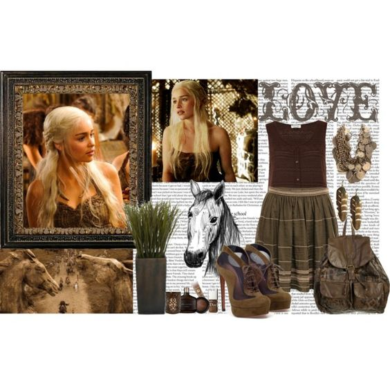 """I am a khaleesi of the Dothraki.I am the wife of the great Khal and I carry his son inside me.The next time you raise your hand to me will be the last time you have hands."" by queeny on Polyvore"